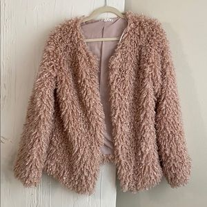 Willow and Clay Pink Shag Jacket